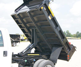 Typical dump using a Godwin conversion hoist