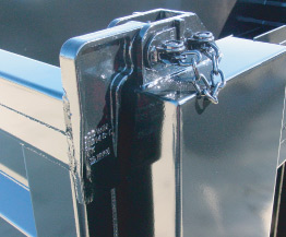 Standard upper tailgate hardware with grease fitting