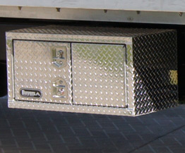 Aluminum locking toll box